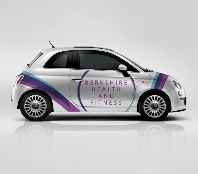 Berkshire Health & Fitness car branding